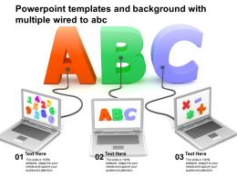 Powerpoint Templates And Background With Multiple Wired To ABC