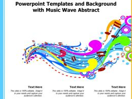 Powerpoint Templates And Background With Music Wave Abstract