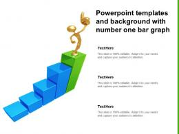 Powerpoint Templates And Background With Number One Bar Graph