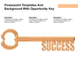 Powerpoint Templates And Background With Opportunity Key