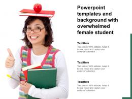 Powerpoint Templates And Background With Overwhelmed Female Student