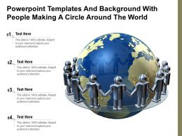 Powerpoint Templates And Background With People Making A Circle Around The World