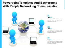 Powerpoint Templates And Background With People Networking Communication