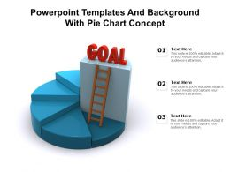Powerpoint Templates And Background With Pie Chart Concept