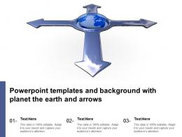 Powerpoint Templates And Background With Planet The Earth And Arrows