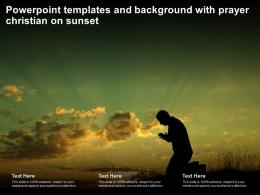 Powerpoint Templates And Background With Prayer Christian On Sunset