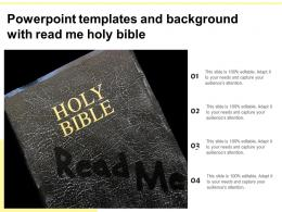 Powerpoint Templates And Background With Read Me Holy Bible