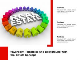 Powerpoint Templates And Background With Real Estate Concept