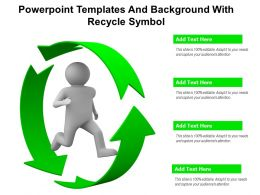 Powerpoint Templates And Background With Recycle Symbol