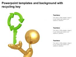 Powerpoint Templates And Background With Recycling Key