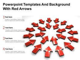 Powerpoint Templates And Background With Red Arrows