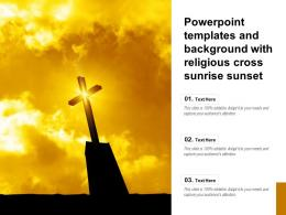 Powerpoint Templates And Background With Religious Cross Sunrise Sunset