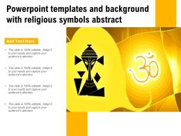 Powerpoint Templates And Background With Religious Symbols Abstract
