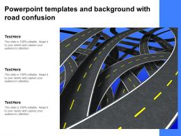 Powerpoint Templates And Background With Road Confusion