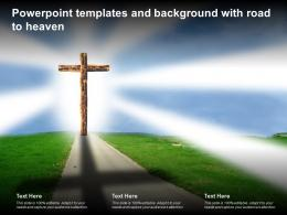 Powerpoint Templates And Background With Road To Heaven
