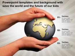 Powerpoint Templates And Background With Save The World And The Future Of Our Kids