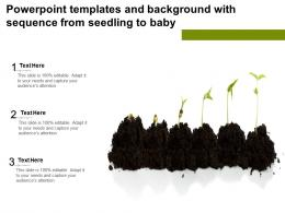 Powerpoint Templates And Background With Sequence From Seedling To Baby