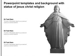 Powerpoint Templates And Background With Statue Of Jesus Christ Religion