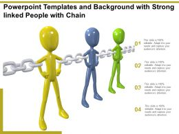 Powerpoint Templates And Background With Strong Linked People With Chain