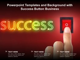 Powerpoint Templates And Background With Success Button Business