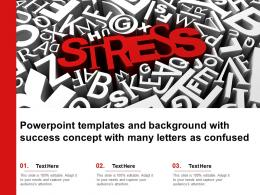 Powerpoint Templates And Background With Success Concept With Many Letters As Confused