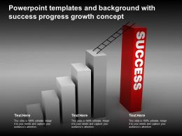 Powerpoint Templates And Background With Success Progress Growth Concept