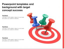 Powerpoint Templates And Background With Target Concept Success