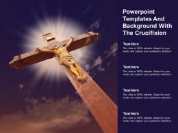 Powerpoint Templates And Background With The Crucifixion