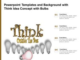 Powerpoint Templates And Background With Think Idea Concept With Bulbs