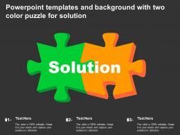 Powerpoint Templates And Background With Two Color Puzzle For Solution