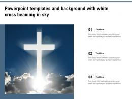 Powerpoint Templates And Background With White Cross Beaming In Sky