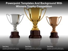 Powerpoint Templates And Background With Winners Trophy Competition