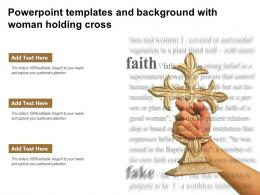 Powerpoint Templates And Background With Woman Holding Cross