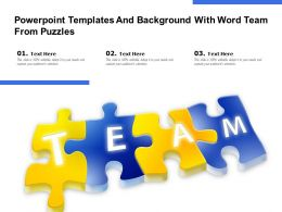 Powerpoint Templates And Background With Word Team From Puzzles