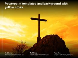 Powerpoint Templates And Background With Yellow Cross