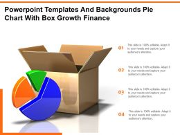Powerpoint Templates And Backgrounds Pie Chart With Box Growth Finance