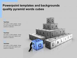 Powerpoint Templates And Backgrounds Quality Pyramid Words Cubes