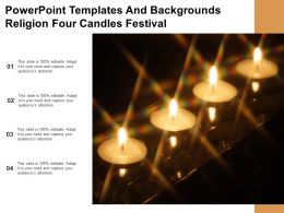 Powerpoint Templates And Backgrounds Religion Four Candles Festival