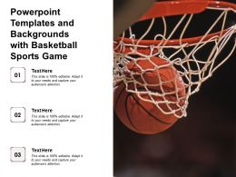 Powerpoint Templates And Backgrounds With Basketball Sports Game