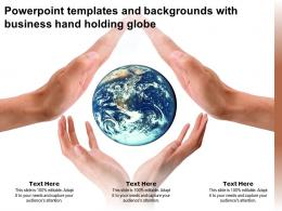 Powerpoint Templates And Backgrounds With Business Hand Holding Globe