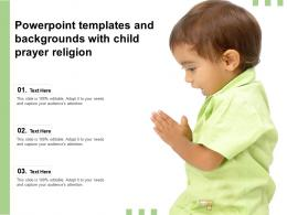 Powerpoint Templates And Backgrounds With Child Prayer Religion