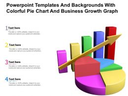 Powerpoint Templates And Backgrounds With Colorful Pie Chart And Business Growth Graph