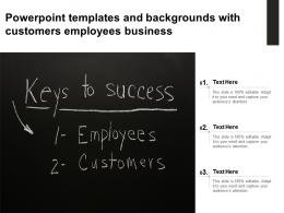 Powerpoint Templates And Backgrounds With Customers Employees Business