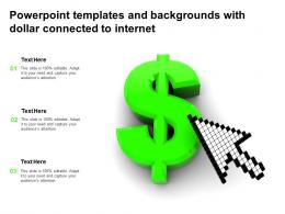Powerpoint Templates And Backgrounds With Dollar Connected To Internet