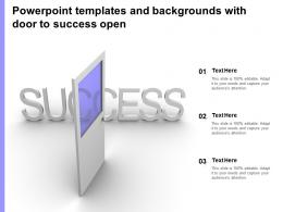 Powerpoint Templates And Backgrounds With Door To Success Open
