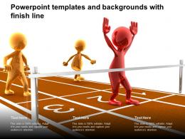 Powerpoint Templates And Backgrounds With Finish Line