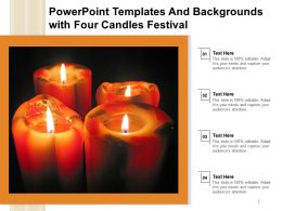 Powerpoint Templates And Backgrounds With Four Candles Festival