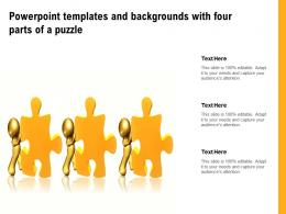 Powerpoint Templates And Backgrounds With Four Parts Of A Puzzle