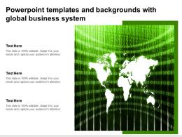 Powerpoint Templates And Backgrounds With Global Business System