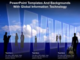Powerpoint Templates And Backgrounds With Global Information Technology